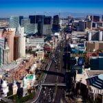 Las Vegas: MGM, das New York-New York und die Achterbahn.