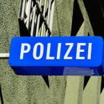 Polizei Schild.