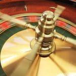 Drehendes Roulette-Spiel.