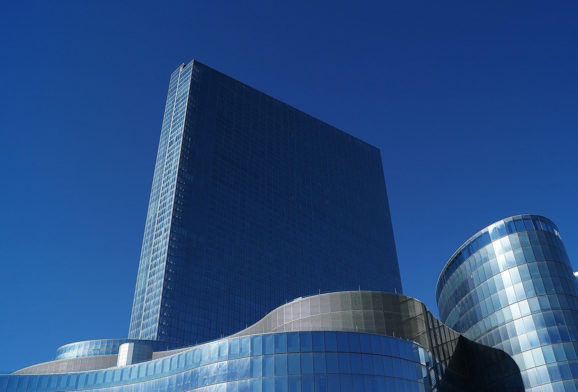 Sebuah bangunan modern khas Atlantic City, New Jersey.