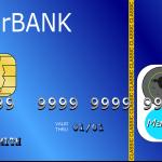 Eine blaue Kredikkarte einer erfundenen Bank, die weltweit gültig wäre.